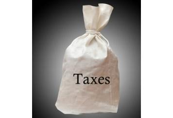 Bag with taxes