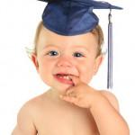 Happy baby boy graduate