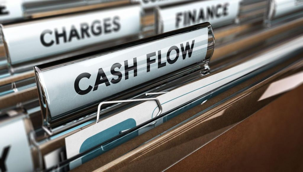 'cash flow' folder marker on file folders