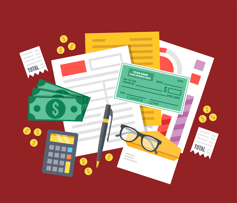 illustration of accounting tools